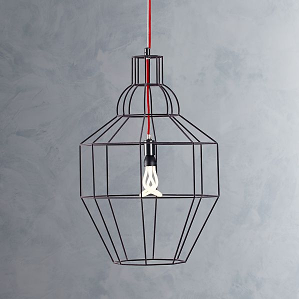 Riviera Large Grey Pendant Light