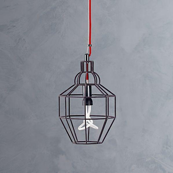 Riviera Small Grey Pendant Light