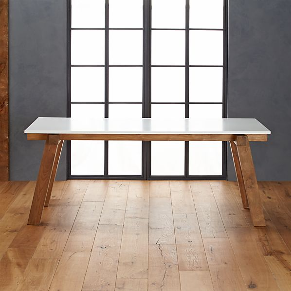 Riviera Rectangular White Top Dining Table