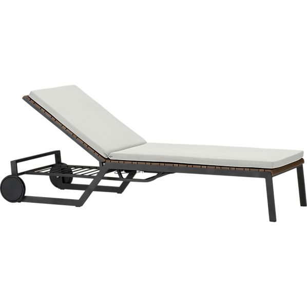 Rocha Chaise Lounge with Sunbrella ® White Sand Cushion