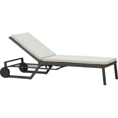 Rocha Chaise Lounge with Sunbrella® White Sand Cushion