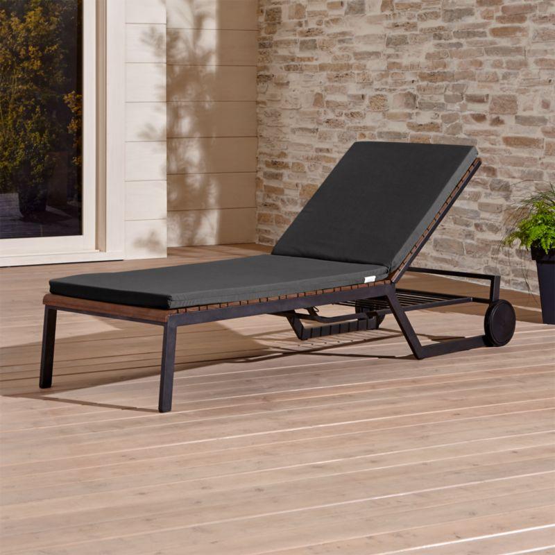 Rocha Chaise Lounge With Sunbrella 174 Cushion Sunbrella