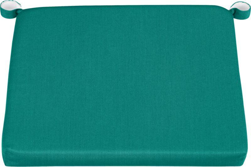 Add extra comfort to Rocha dining chairs and barstools with fade-, water- and mildew-resistant Sunbrella® acrylic cushions in deep harbor blue.<br /><br /><NEWTAG/><ul><li>Fade- and mildew-resistant Sunbrella® acrylic</li><li>Polyurethane foam fill</li><li>Cushion is secured with fabric tab fasteners</li><li>Spot clean</li><li>Made in USA</li></ul>