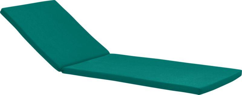 Add extra comfort to Rocha chaise lounge chair with fade-, water- and mildew-resistant Sunbrella® acrylic cushions in deep harbor blue.<br /><br /><NEWTAG/><ul><li>Fade- and mildew-resistant Sunbrella® acrylic</li><li>Polyurethane foam fill</li><li>Cushion is secured with fabric tab fasteners</li><li>Spot clean</li><li>Made in USA</li></ul>