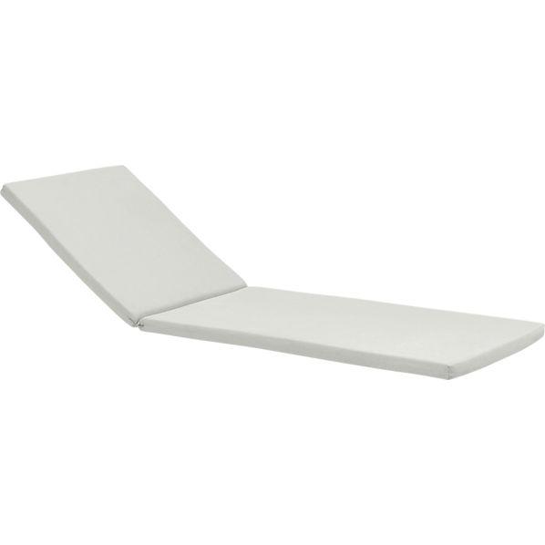 Rocha Sunbrella ® White Sand Chaise Lounge Cushion
