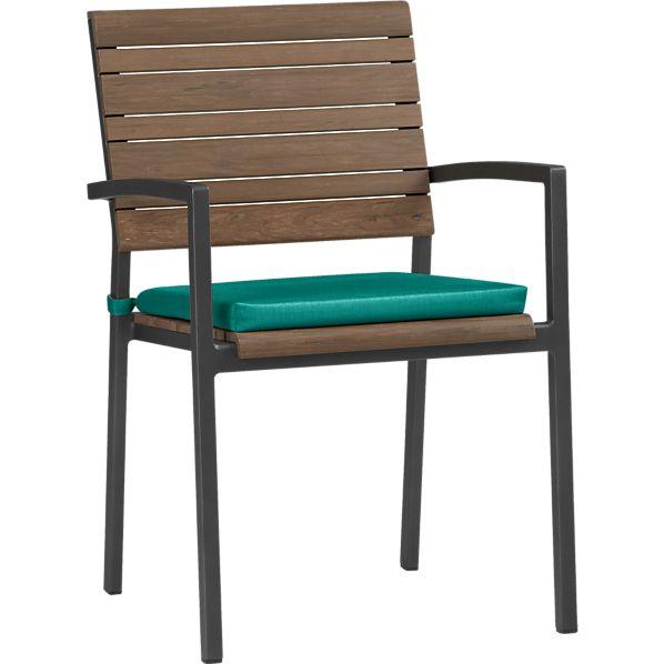 Rocha Dining Chair with Sunbrella ® Harbor Blue Cushion