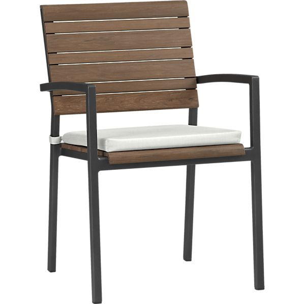 Rocha Dining Chair with Sunbrella ® White Sand Cushion