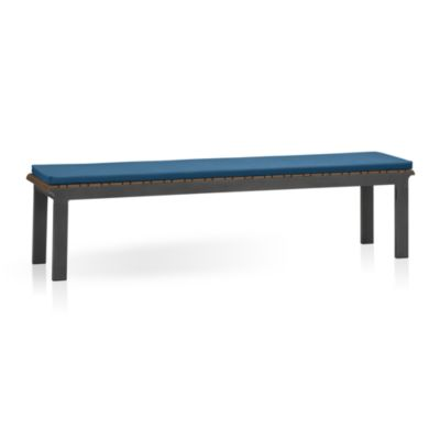 Rocha Dining Bench with Sunbrella® Turkish Tile Cushion