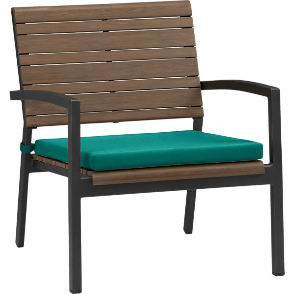 Rocha Lounge Chair with Sunbrella ® Harbor Blue Cushion