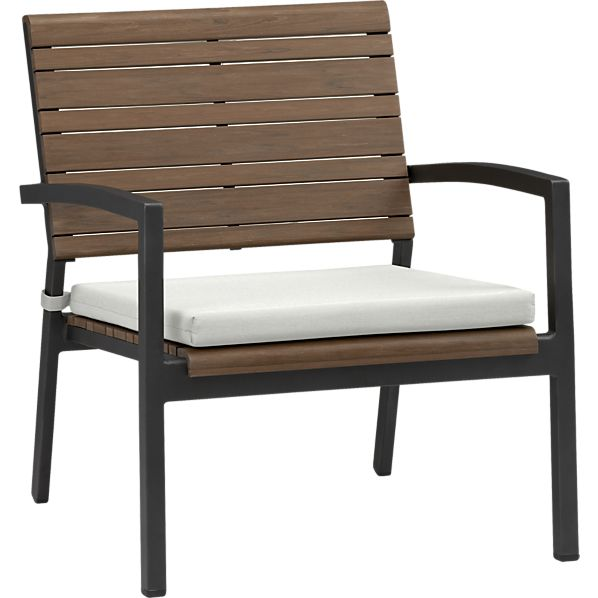 Rocha Lounge Chair with Sunbrella ® White Sand Cushion