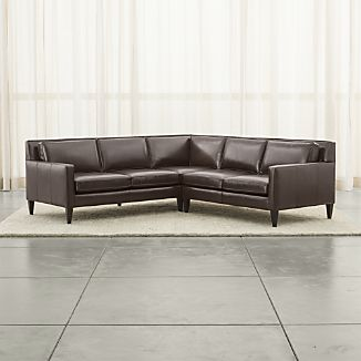 Rochelle Leather 2-Piece Sectional