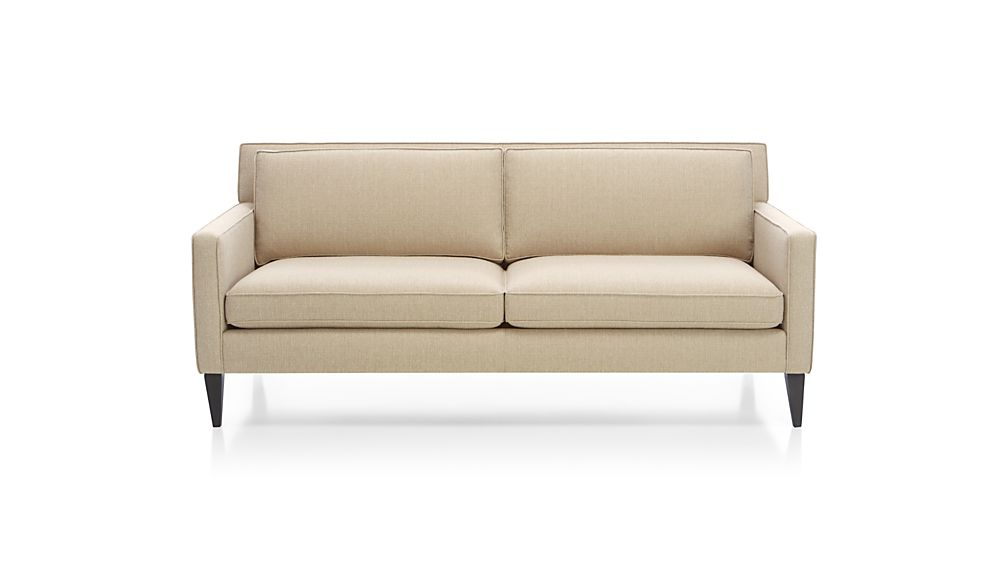 rochelle apartment size sofa crate and barrel