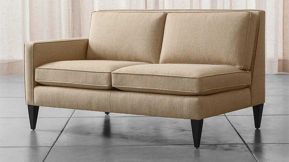rochelle left arm loveseat audra desert crate and barrel. Black Bedroom Furniture Sets. Home Design Ideas
