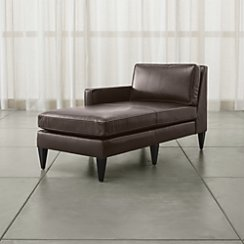 Rochelle Leather Left Arm Chaise Lounge