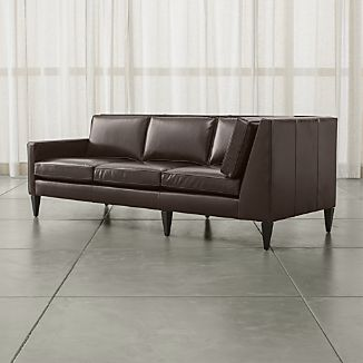 Rochelle Leather Left Arm Corner Sofa