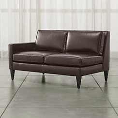 Rochelle Leather Left Arm Loveseat