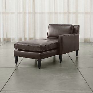 Rochelle Leather Right Arm Chaise Lounge