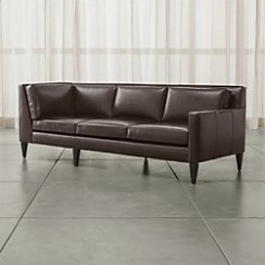 Rochelle Leather Right Arm Corner Sofa