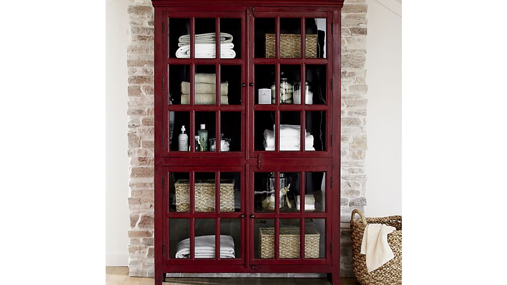 Rojo Red Tall Cabinet