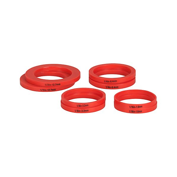 Set of 8 Rolling Pin Measuring Rings