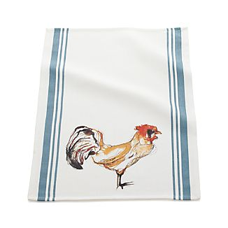 Rooster Stripe Dish Towel