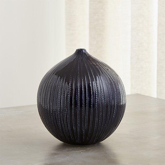 Rope Indigo Blue Ceramic Vase