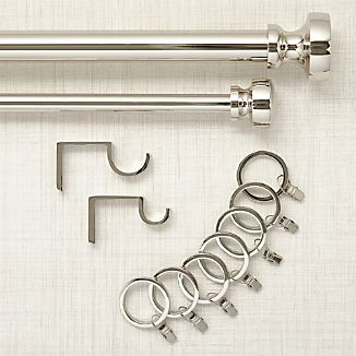 Rorke Nickel Curtain Hardware