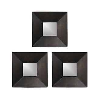 Set of Three Rory II Square Wall Mirrors