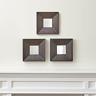 Set of Three Rory II Square Wall Mirrors