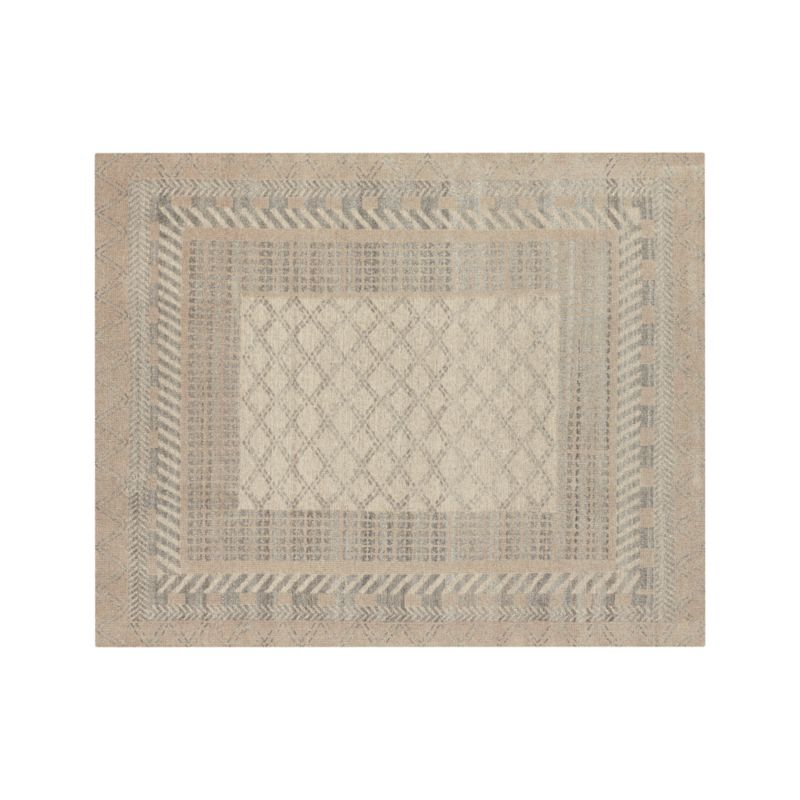 Rosalie Neutral Hand Knotted Oriental 8'x10' Rug