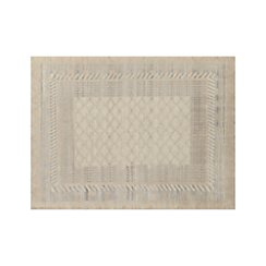 Rosalie Neutral Hand Knotted Oriental 9'x12' Rug