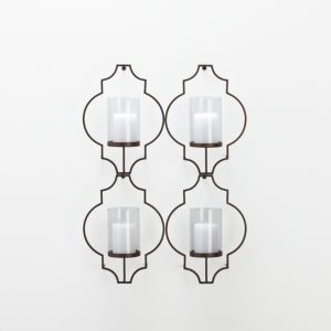 Set of 4 Rosaline Wall Candleholders