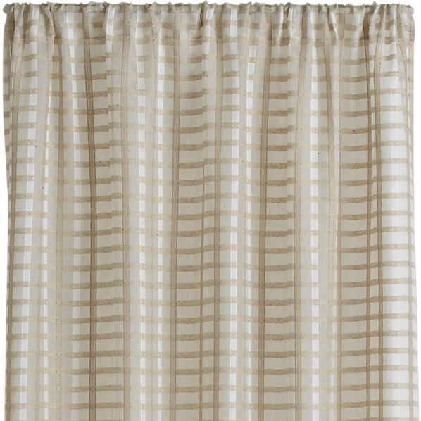 "Ross Natural Sheer 54""x63"" Curtain Panel"