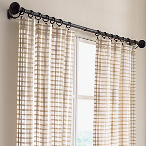 Ross Natural Sheer Curtain Panels - Ross...
