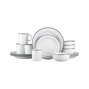 Roulette Blue Band 16-Piece Dinnerware Set