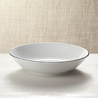 Roulette Blue Band Serving Bowl