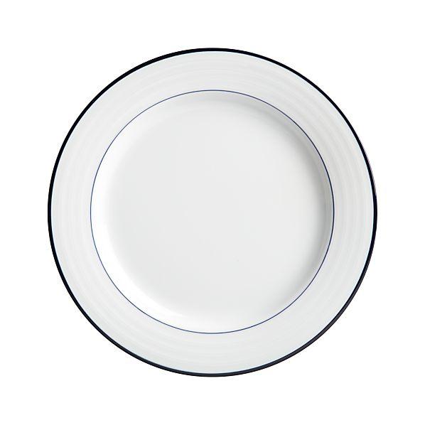 Roulette Blue Band Dinner Plate