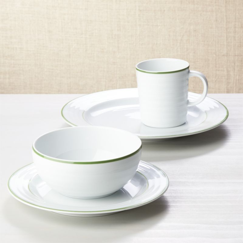 Roulette Green Band 4-Piece Place Setting