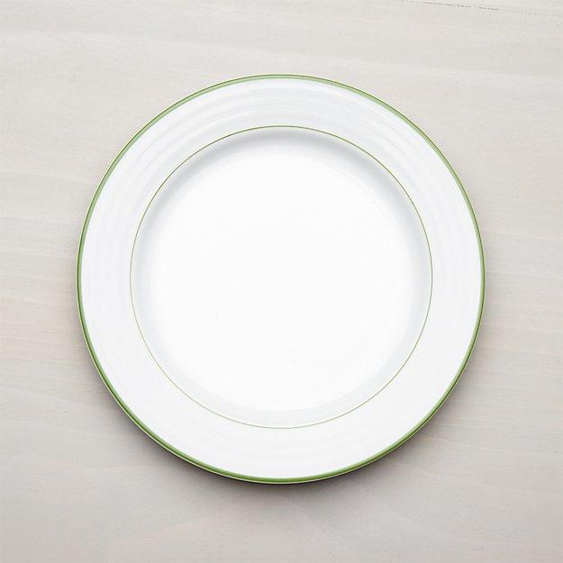 Roulette Green Band Dinner Plate