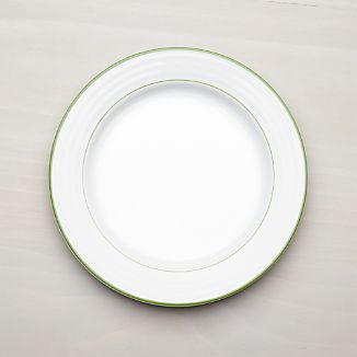 Roulette Green Band Dinner Plate