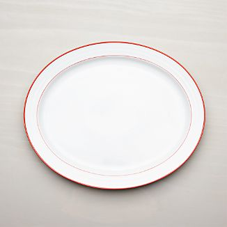 Roulette Red Band Oval Platter