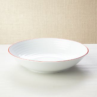 Roulette Red Band Serving Bowl