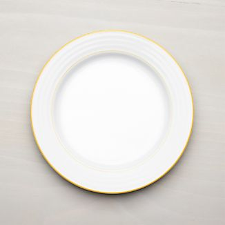 Roulette Yellow Band Dinner Plate