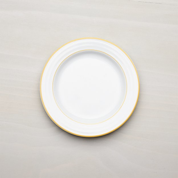 Roulette Yellow Band Salad Plate