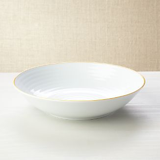 Roulette Yellow Band Serve Bowl