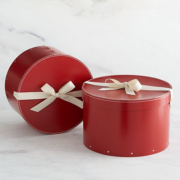 Set of 2 Bigso ® Red Round Boxes