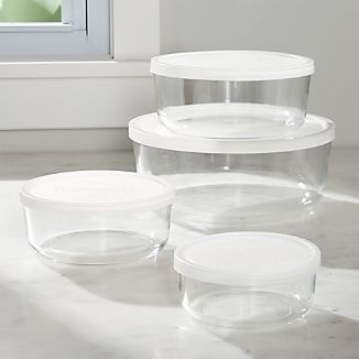 4-Piece Round Storage Bowl Set