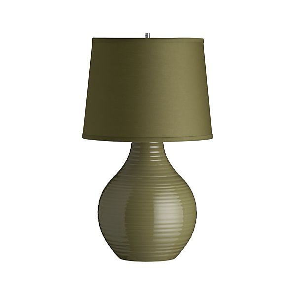 Row Khaki Taupe Table Lamp