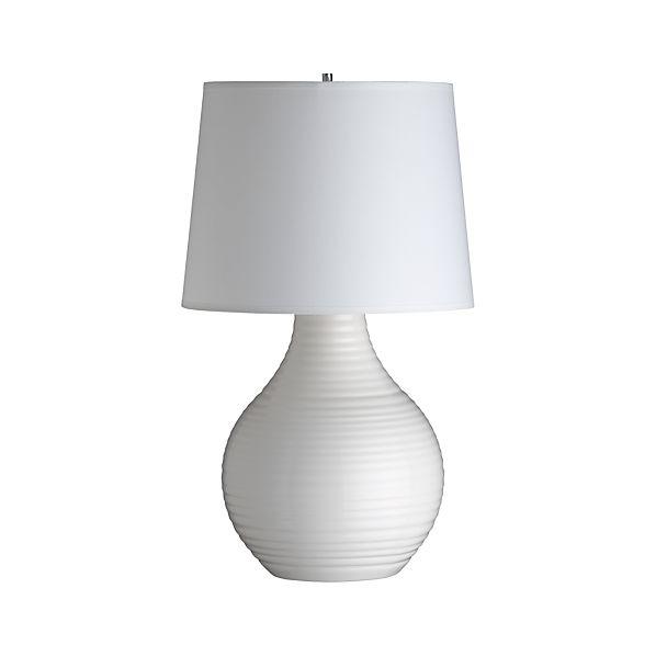 Row White Table Lamp