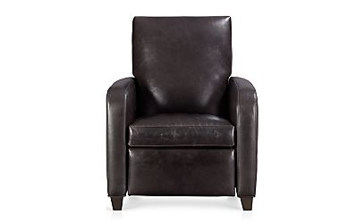 Royce Leather Recliner Libby Smoke Crate And Barrel